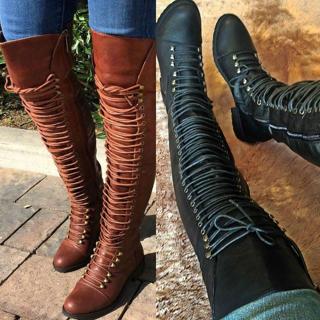 Best 25  Thigh high combat boots ideas on Pinterest | Combat boots ...