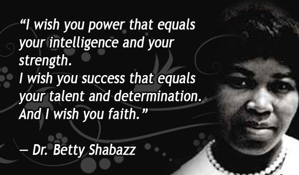 (Born on this day… May 28, 1934 Betty Shabazz:...)