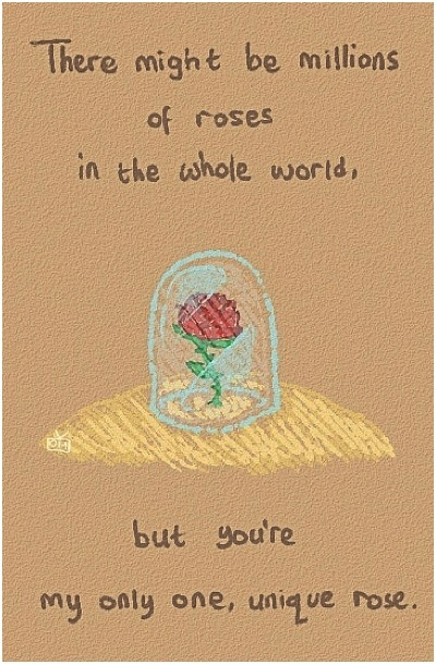 His rose (the little prince) was the only one in his life, thus the most beautiful one.