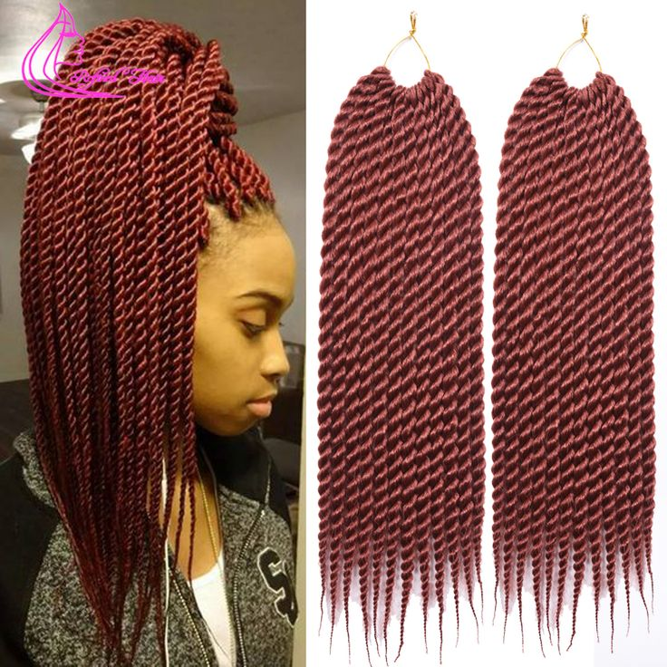 "Havana Twist 18"" 85G/Pack Crochet Twist Hair Box Braid Extensions Senegalese Twist Havana Mambo Twist Crochet Braids Hair"
