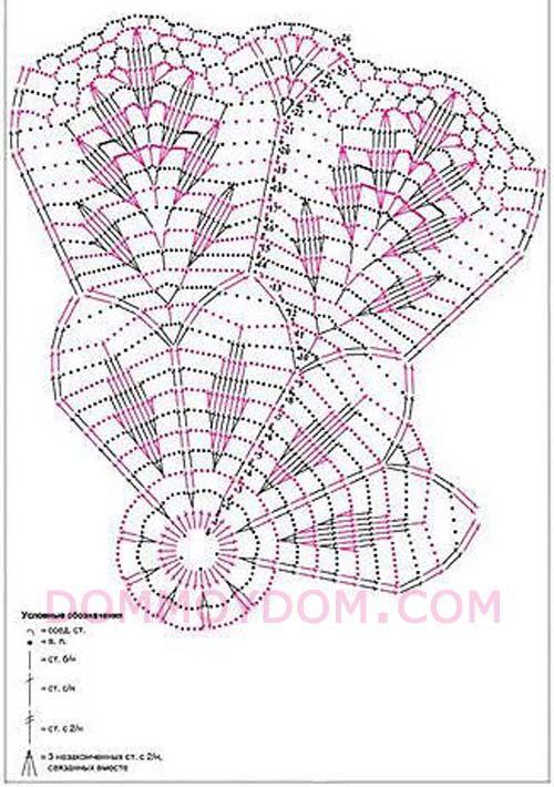 вязаные салфетки со схемами