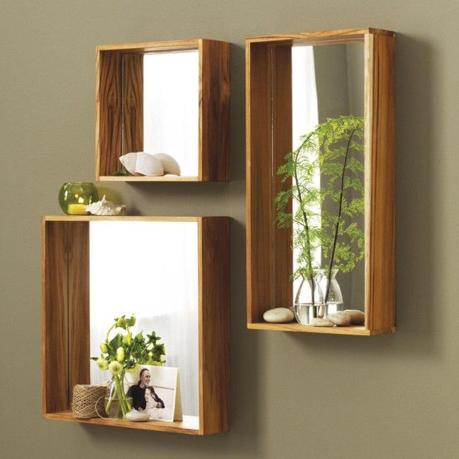Takara Golden Teak Mirrors | VivaTerra | I can see making these with IKEA boxes and mirrors for much less