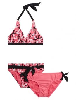 3 Piece Anchor Bikini Swimsuit