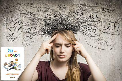 Ecco cosa succede ad un adulto con ADHD, quando subentra il suo continuo e incessante flusso di idee e pensieri. Con l' ADHD si salta da un idea all'altra.