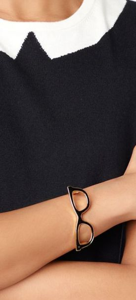 Seriously the cutest bangle ever - kate spade's Goreski glasses bangle #geekchic http://rstyle.me/~2yd31