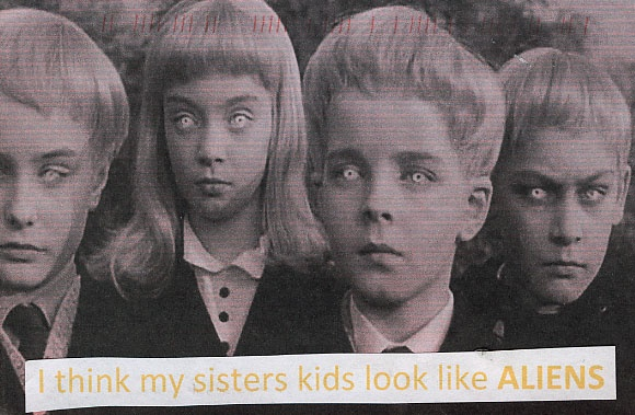 PostSecret: I think my sister's kids look like aliens: Classic Horror, Movies, The Village, Damn 1960, Kids, Creepy Children, Horror Film, Horror Movie, Halloween