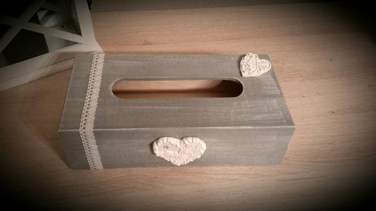 Boite à mouchoirs grise effet patine : Accessoires de maison par creavaloue