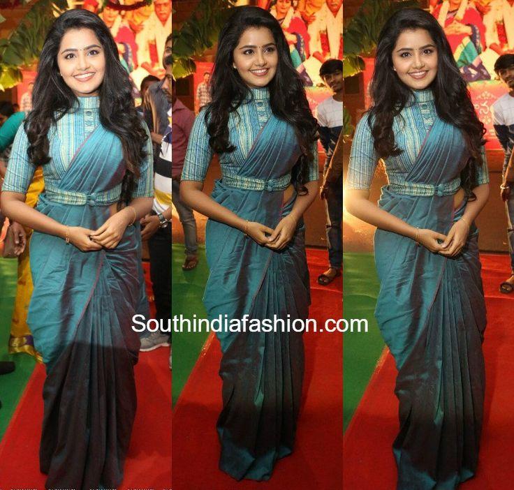Anupama Parameswaran in a belted saree