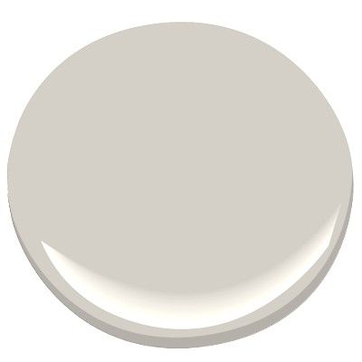 BM #2108-60 Abalone - in Flat finish - for Master Bedroom, Entry and Office/Exercise Room.  This is one step lighter than Silver Fox.