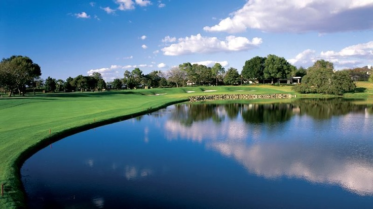 Bay Hill Golf Course Orlando,Fl - Hole 18. What a fun year living here!