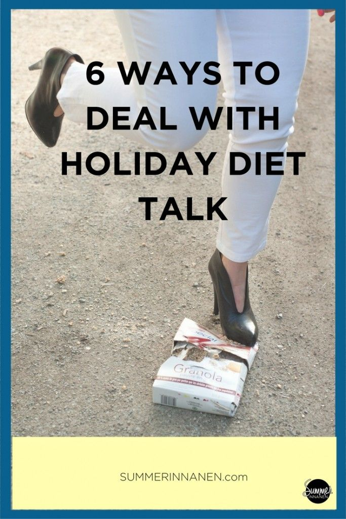 Your body, health and food are your business. No one else is entitled to police your choices or the way you show up in this world. So, let's break down 6 different ways to deal with holiday diet talk...  #antidiet