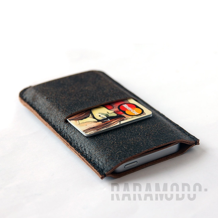 iPhone 5 leather sleeve case pouch. $15.00, via Etsy.