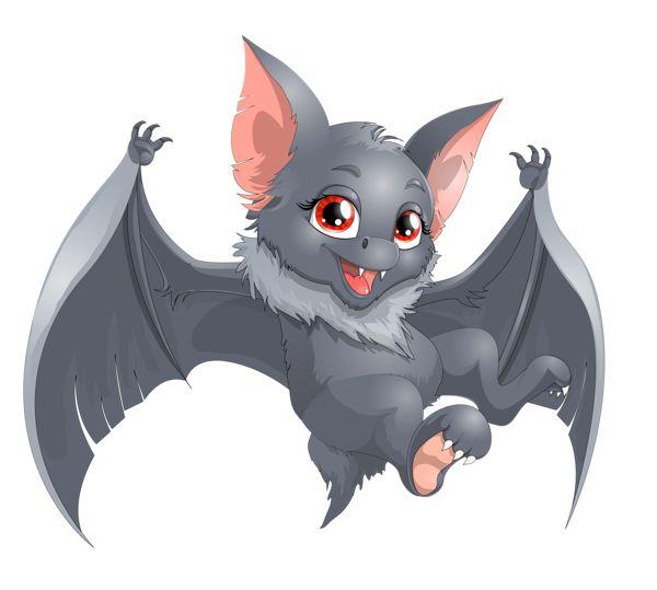 Transparent Halloween Bat Cartoon PNG Clipart