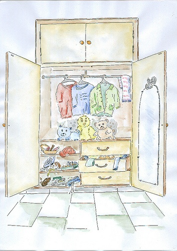 El armario viajero de Camila Broli.