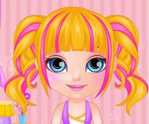 Baby Barbie Manga Haircuts, http://www.mybabybarbiegames.com/game/baby-barbie-manga-haircuts. Baby Barbie is ready to go back to school looking more fashionable than ever