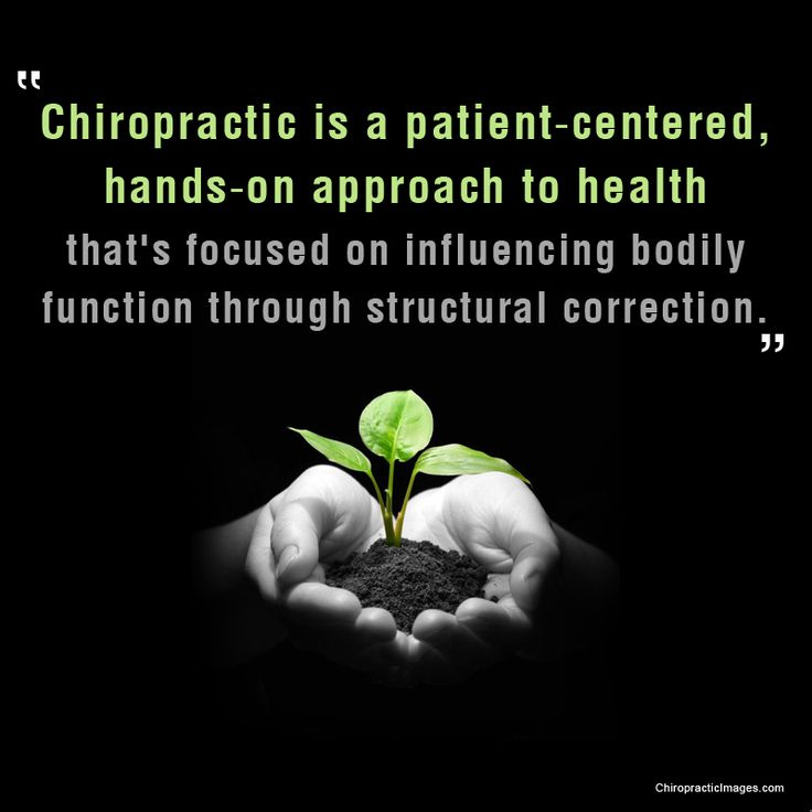 """Chiropractic is a patient-centered, hands-on approach to health that's focused…"