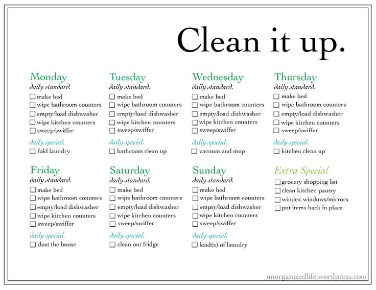 Best 10+ Weekly chore list ideas on Pinterest   Weekly cleaning ...