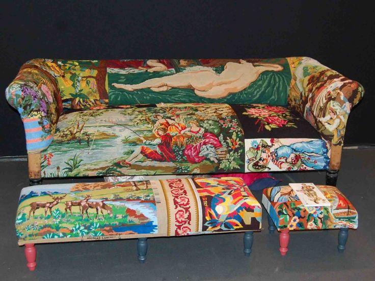 Frederique Morel....réunit des canevas moches avec art et ils en deviennent beaux!