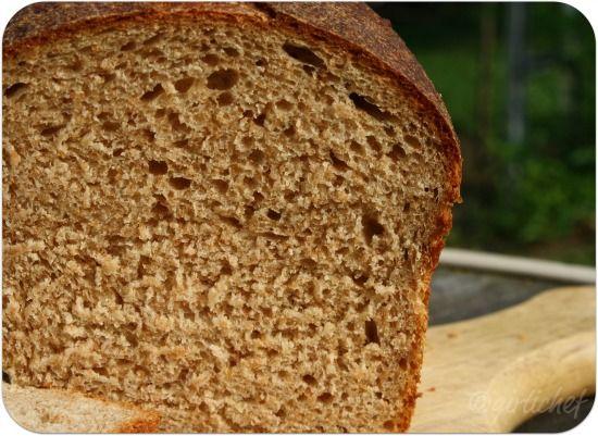 girlichef: Soft Sourdough Bread - Sourdough Sandwich Loaf with white / wheat mix