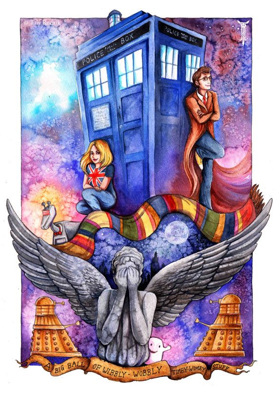 Dr Who Tardis Rose Dalek David Tennant Weeping Angel By TrollWorx Part 96
