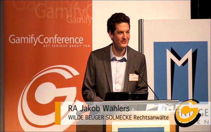 Jakob Wahlers zum Thema Gamification & Recht.  Sie interessieren sich für die Faszination des Menschen zu spielen, haben es aber leider nicht auf die +Gamify Conference (GamifyCon) 2013 nach München geschafft? Kein Problem. Wir werden alle Talks auf dem GamifyCon-Youtube-Channel zur Verfügung stellen. Viel Spaß! #gamification #GamifyCon