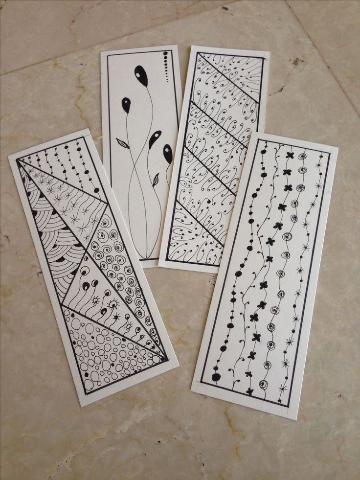 Zentangle - Bookmarks @ Amal Zarour