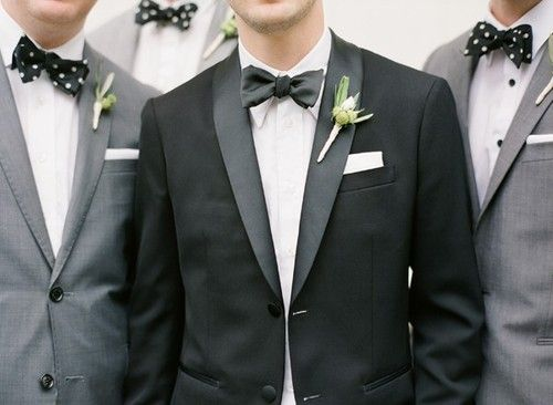 heyweddinglady: For the man in your life!    Bow ties are cool. Polka-dot bow ties are even cooler