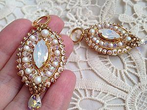 Создаем свадебные серьги с кристаллами | Ярмарка Мастеров - ручная работа, handmade