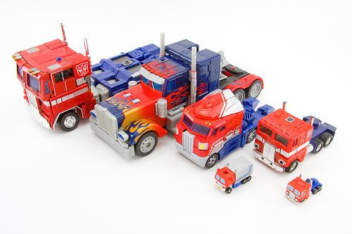 Optimus Prime Generations #Transformers #Toys #Optimus Prime Semi Trucks by JasonCross, via Flickr