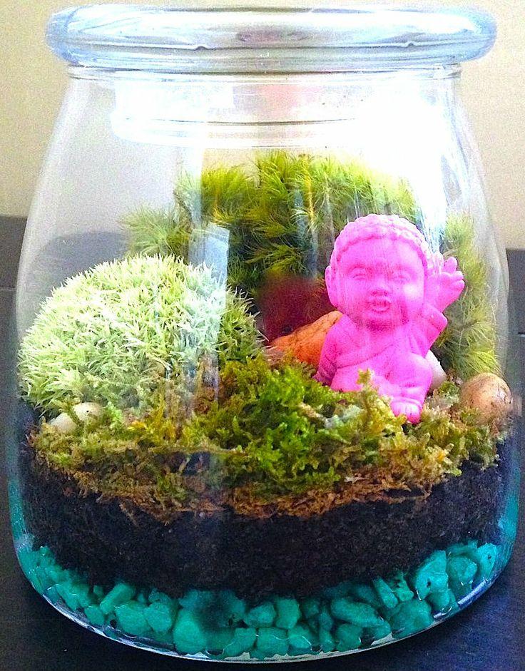 Buddha In Japanese Garden Terrarium By Hophouse Terrariums