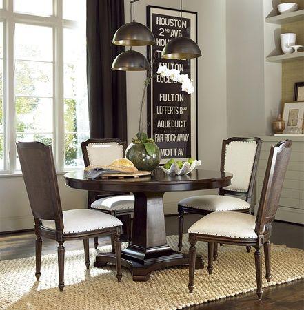 Proximity Cherry Wood 5 Piece Round Dining Room Set