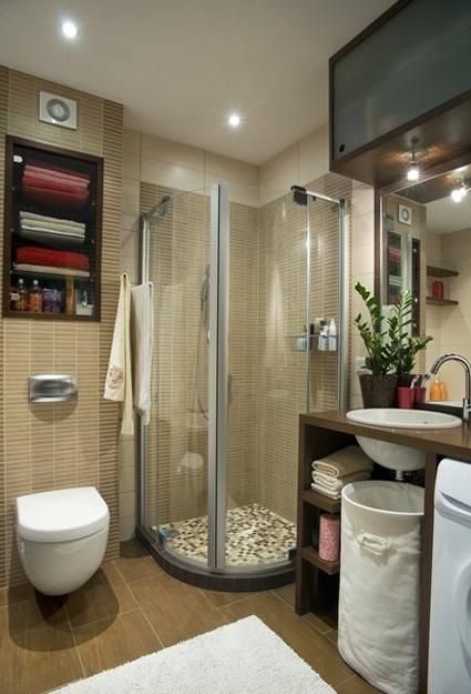 25 small bathroom design and remodeling ideas maximizing for Tiny space bathrooms