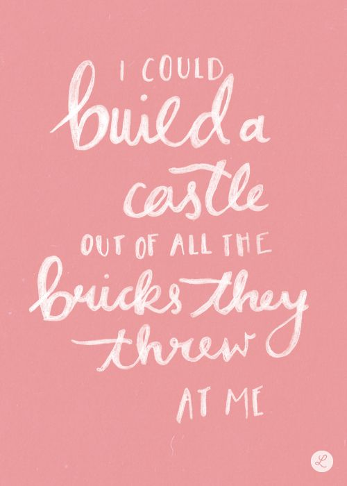""" I Could Build a Castle out of all the Bricks they Threw at Me Taylor Swift 'New Romantics' November 18th """