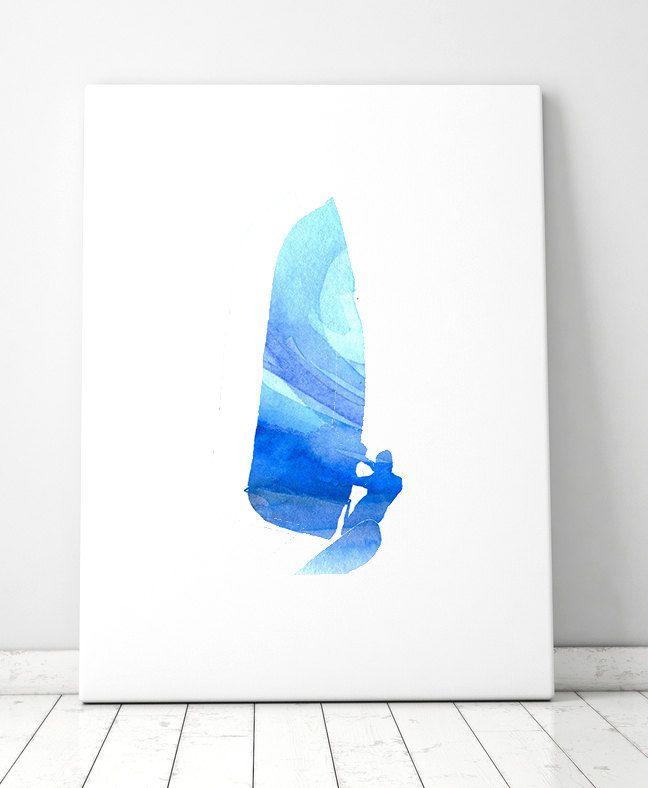 watercolor windsurfer - Google Search