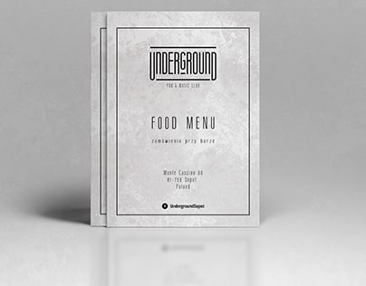 """Check out new work on my @Behance portfolio: """"Food Menu for Underground PUB in Sopot, POLAND"""" http://on.be.net/1OC2NqH"""