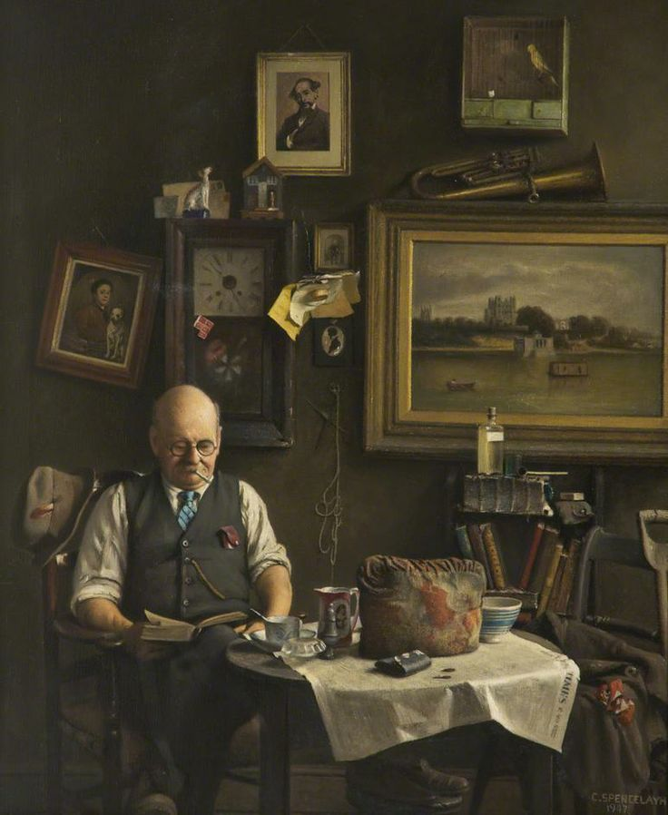 Charles Spencelayh - 'A Lover of Dickens', 1947: