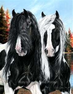 Gypsy Vanner: Gypsy Horses, Beautiful Hors, Art Hors, Black White, Pastel Paintings, Horses Art, Horses Paintings, Gypsy Horse Horses, Pastel Art