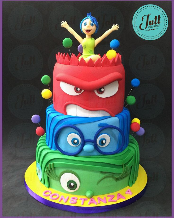 Disney inside out cake
