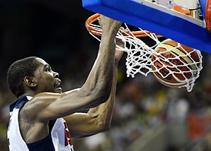 Kevin Durant has a proven track record in the NBA while very young in his career. This athlete has managed to take the OKC Thunder to the 2012 NBA Finals and chosen for team USA's basketball squad for the 2012 Olympics.