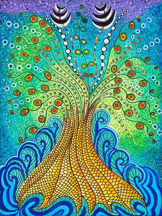 Spiritual Poster-Tree of Life-Creation by IsisStudio on Etsy
