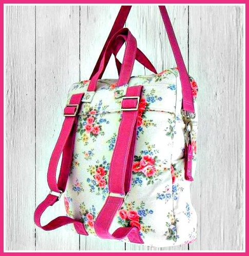 This is a PDF sewing pattern for a backpack bag by Sewing Patterns by Mrs. H., which accommodates three different types of straps, making it readily customize-able and accessible. Backpack straps, top handles, and a detachable shoulder strap will help you lug just about anything comfortably.