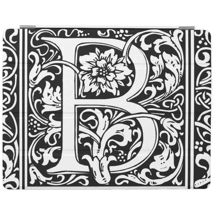 Letter B Medieval Monogram Vintage Initial iPad Smart ...
