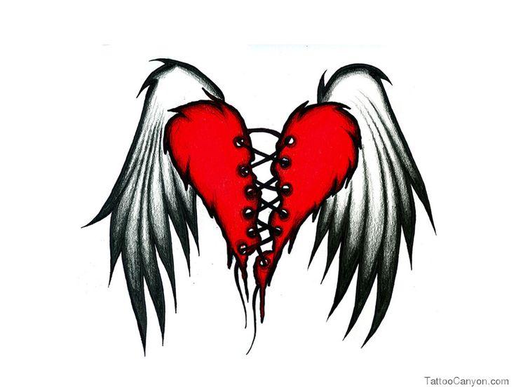 Broken Heart Wings Tattoo Design Wallpaper Wallpapers  Hd picture 16699
