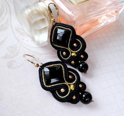 #soutache #black #earrings