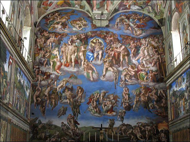 Les 25 meilleures id es de la cat gorie chapelle sixtine - Fresque du plafond de la chapelle sixtine ...