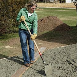 Home-Dzine - How to lay a DIY concrete patio