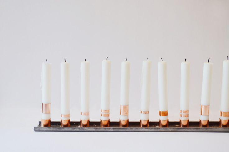 Mixed Metal Industrial Candleholder DIY