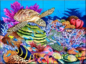 Tile Mural - Magic Carpet Ride - Kitchen Backsplash Ideas - traditional - Tile Murals - The Tile Mural Store (USA)