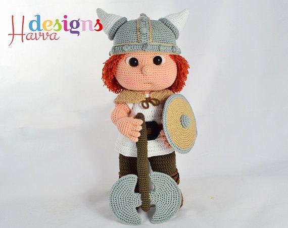 Patrón Tommy con traje de vikingo por HavvaDesigns en Etsy