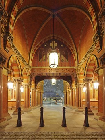 Entrance of St. Pancras International, London, Home of Eurostar and Gateway to the Continent by David Bank ... Paris is now just at the end of the tracks!